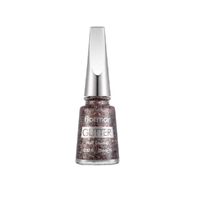 Flormar Glitter Nail Enamel - 18 Copper