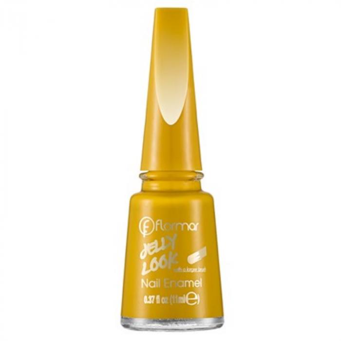Flormar Jelly Look Nail Enamel - Mustard