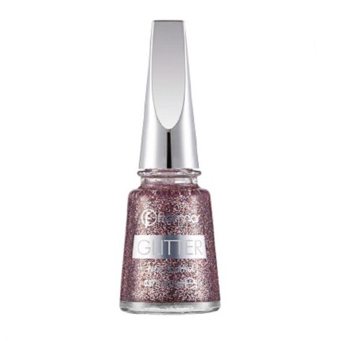 Flormar Glitter Nail Enamel - 39 Red In Silver