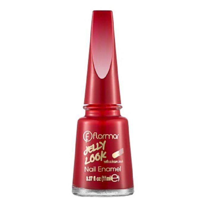 Flormar Jelly Look Nail Enamel - JL23 Stunning Red