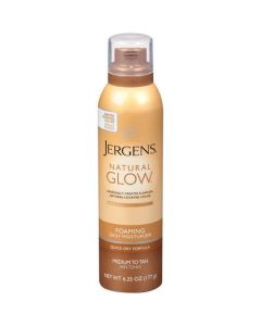 Jergens Natural Glow Foaming Daily Moisturizer Medium Tan Skin Tones 177g