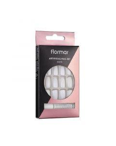Flormar Artificial Nail Set - 052 White