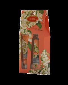 Pielor Cosmetics Breeze Orange Blossom Hand Cream 30ml + Lip Balm 12ml Gift Set
