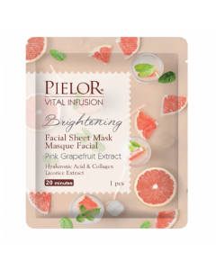 Pielor Vital Infusion Brightening Pink Grapefruit Extract Facial Mask