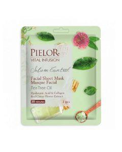 Pielor Vital Infusion Sebum Control Tea Tree Oil Facial Mask
